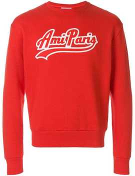 Sweatshirt With Ami Paris Patch by Ami Alexandre Mattiussi