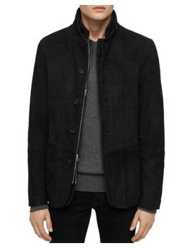Dayton Leather Layered Look Blazer by Allsaints