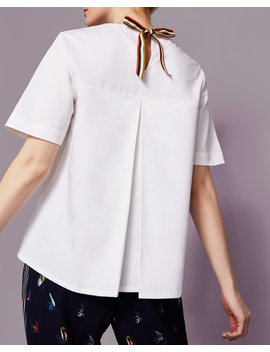 Grosgrain Tie Cotton Top by Ted Baker