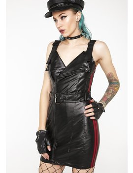 Lane Splitting Moto Dress by Signature 8