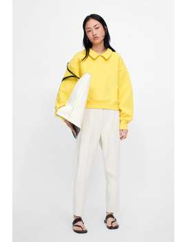 Collared Sweatshirt  New Inwoman New Collection by Zara