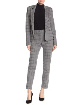 Plaid Straight Leg Pants by Kasper