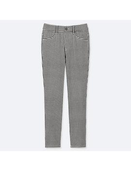 Women Ultra Stretch Printed Cropped Fit Leggings Trousers by Uniqlo
