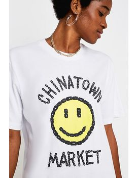 Chinatown Market X Smiley Uo Exclusive White T Shirt by Chinatown Market