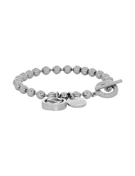 Silver Charm Ball Chain Bracelet by Gucci