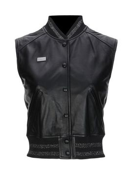 Philipp Plein Leather Jacket   Coats & Jackets by Philipp Plein