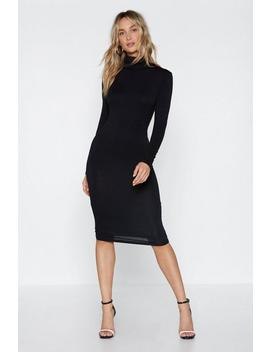 Time To Face Your Next Turtle Midi Dress by Nasty Gal
