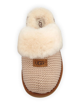Cozy Knit Slippers With Sheepskin by Ugg Australia