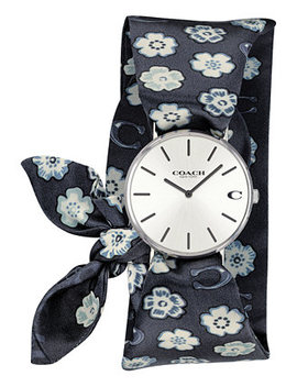 Women's Perry Tea Rose Satin Scarf Wrap Watch 36mm Created For Macy's by Coach