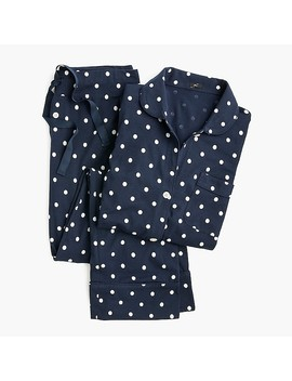 Dreamy Cotton Pajama Set In Polka Dots by J.Crew