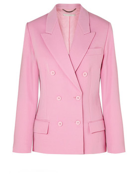Double Breasted Wool Twill Blazer by Stella Mc Cartney