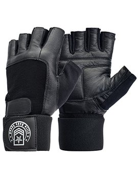 Elite Body Squad Weight Lifting Gloves   Soft Leather Gym Gloves With Wrist Support + Double Stitched Fingers And Palm   Breatheable Mesh Lycra On Back + Easy Open Finger Tab Size Adjuster by Elite Body Squad