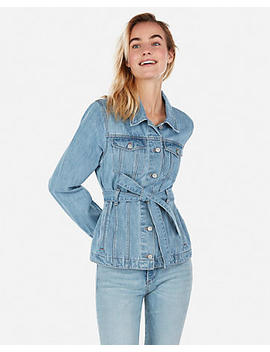 Belted Denim Jacket by Express