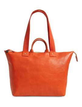 Le Zip Leather Tote by Clare V.