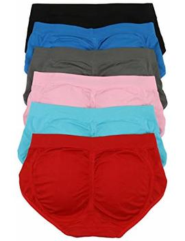 To Be In Style Women's Pack Of 6 Padded Briefs by To Be In Style