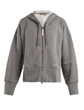 Essential Hooded Zip Through Performance Track Top by Adidas By Stella Mc Cartney