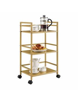 Novogratz 7741871 Com Helix Utility Cart, Gold by Novogratz