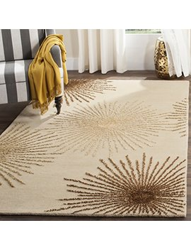"Safavieh Soho Collection Soh712 A Handmade Fireworks Beige And Multicolored Premium Wool Area Rug (3'6"" X 5'6"") by Safavieh"