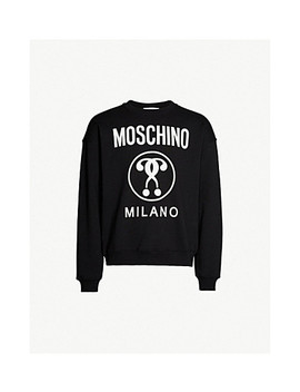Logo Cotton Jersey Sweatshirt by Moschino
