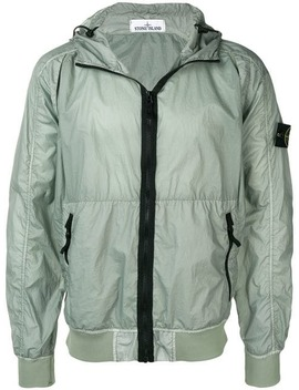 Hooded Compass Badge Jacket by Stone Island