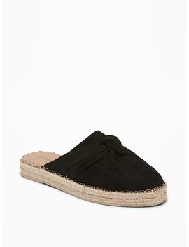 Knotted Faux Suede Slide Espadrilles For Women by Old Navy
