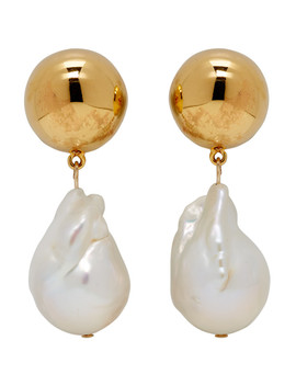 White Pearl Obama Earrings by Sophie Buhai