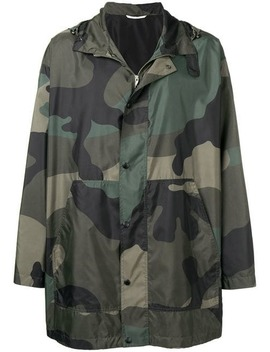 Camouflage Hooded Coat by Valentino