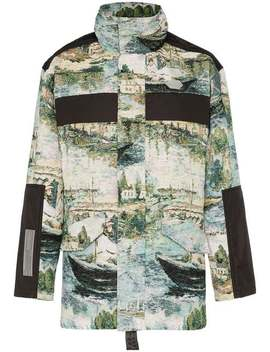 Lake Print Cotton Blend Military Jacket by Off White