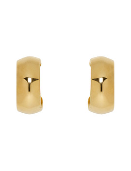 Gold Small Zora Hoop Earrings by Sophie Buhai