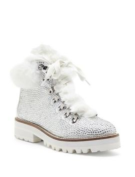 Norina Embellished Faux Fur Boots by Jessica Simpson