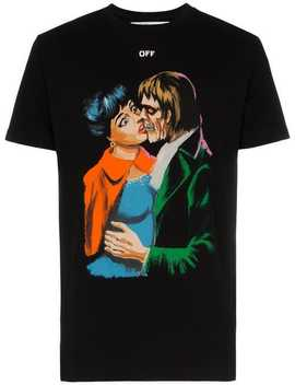 Kiss Graphic Print Cotton T Shirt by Off White