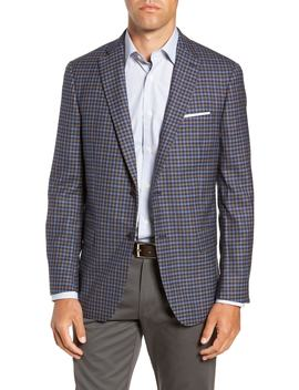 Classic Fit Check Wool Sport Coat by Hart Schaffner Marx