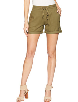 Love At Two Non Denim Elastic Waist Shorts by Roxy