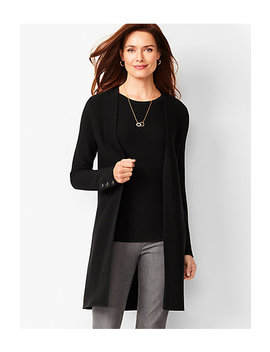Open Front Modern Ottoman Cardigan   Solid by Talbots