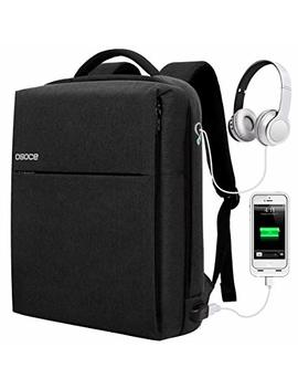 Osoce Slim Laptop Backpack Business Computer Bag With Usb Port Charger by Osoce