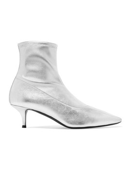 Notte Metallic Leather Sock Boots by Giuseppe Zanotti