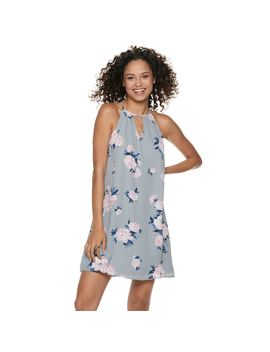 Juniors' Candie's® Pleated Halter Swing Dress by Juniors' Candie's