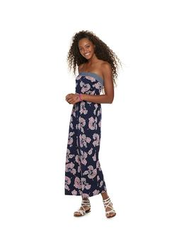 Juniors' Trixxi Strapless Floral Jumpsuit by Kohl's