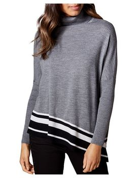 Asymmetric Striped Hem Sweater by Karen Millen