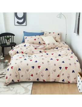 Cartoon Mickey Mouse Duvet Cover Cotton Bedding Set Single Double King Size by Ebay Seller