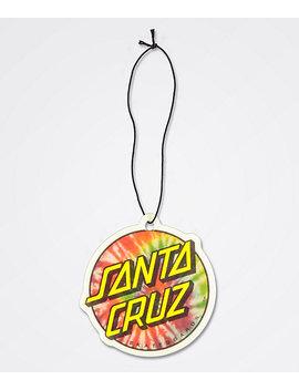 Santa Cruz Tie Dye Dot Air Freshener by Santa Cruz Skate