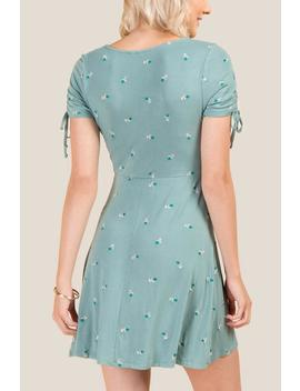 Kinsley Embroidered Knit Dress by Francesca's