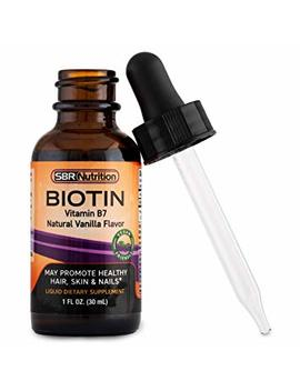 Max Absorption Biotin Liquid Drops, 5000mcg Of Biotin Per Serving, 60 Serving, No Artificial Preservatives, Vegan Friendly, Supports Healthy Hair Growth, Strong Nails And... by Sbr Nutrition