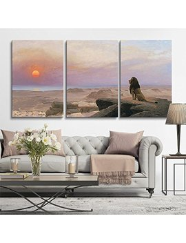"Wall26 3 Panel World Famous Painting Reproduction On Canvas Wall Art   The Two Majesties 1883 By Gérôme   Modern Home Decor Ready To Hang   24""X36"" X 3 Panels by Wall26"