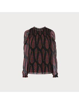 Getty Black Multi Silk Woven Top by L.K.Bennett