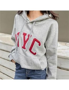 Pippin   Brushed Fleece Lined Letter Patch Hoodie by Pippin