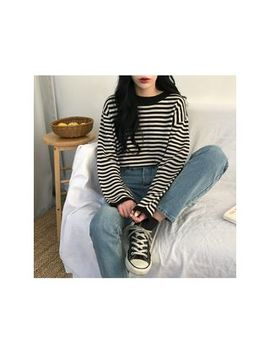 Michyeora   Loose Fit Stripe Sweater by Michyeora