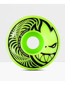 Spitfire Hypno Swirl Green & Black 53mm Skateboard Wheels by Spitfire