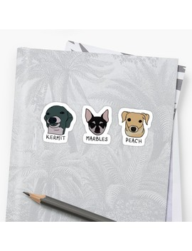 Jenna's Dogs + Names (Sticker Pack) by Kelseys Kustoms