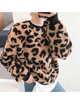Discosalon   Leopard Faux Fur Pullover by Discosalon